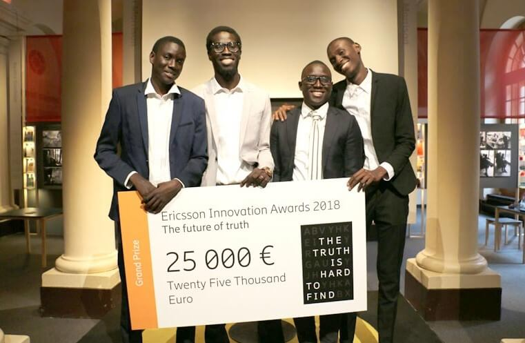 ericsson innovation awards eia 2018 4 tudiants s n galais remportent le 1er prix kongo kafe. Black Bedroom Furniture Sets. Home Design Ideas
